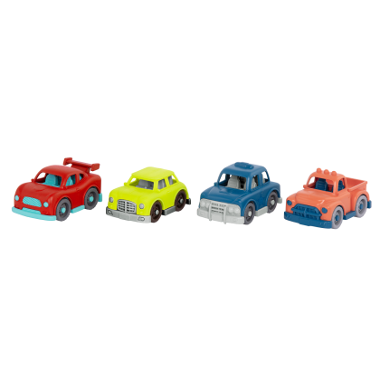 (VE1044Z) Wonder Wheels, Mini Vehicles Set W/4cars