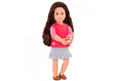 (BD31254AZ) Our Generation, Deluxe Food Truck Doll W/Book Skirt Version Reyna