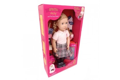 (BD31285AZ) Our Generation, Deluxe School Girl Doll W/Book Hally