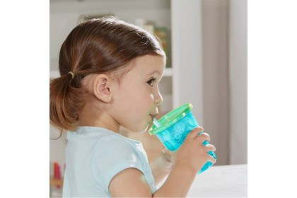 (Y4953-6713) The First Years, Take & Toss Sippy Cups 10oz 296ml - Green