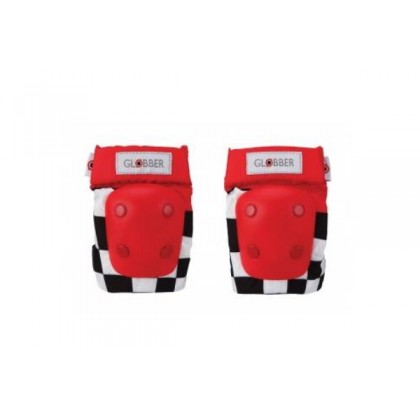 (GL529-001) Globber, Toddler Protective Elbows & Knees Pads - Racing Red Pad