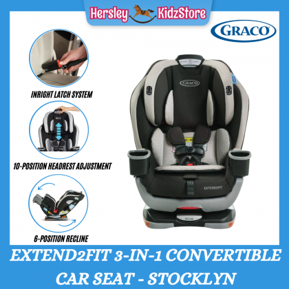 (GR8AR11SKN) Graco, Extend2Fit 3-in-1 Convertible Car Seat - Stocklyn