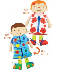 K's Kids, 2 in 1 Dress Up Doll (KT21011)