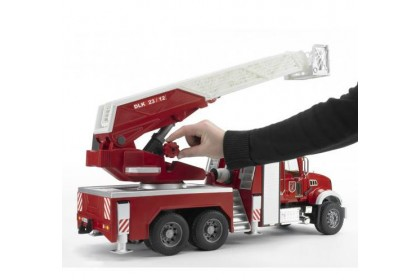 (BRU02821) Bruder, MACK Granite Fire Engine With Slewing Ladder And Water Pump