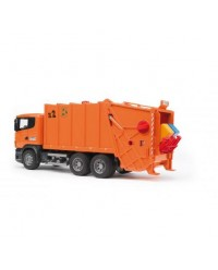 (BRU03560) Bruder, SCANIA R-Series Garbage Truck Orange