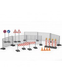 Bruder, Accessories Construction: Ralings, Site Signs And Pylons (BRU62007)