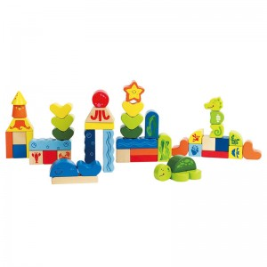 (HP0432) Hape, Under The Sea Blocks - 48pcs