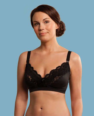 (C2032) Carriwell, Lace Drop Cup Nursing Bra Black III-Size