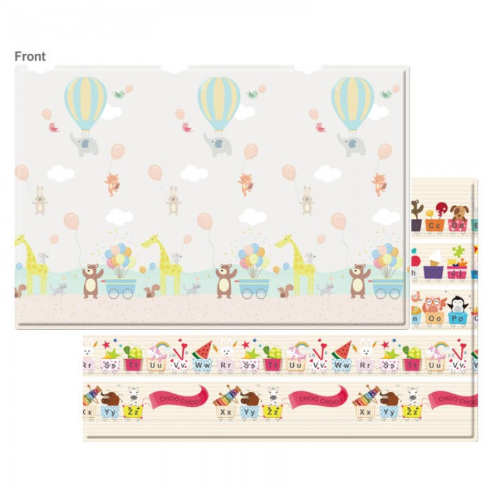(BCP@HAB-1850x1250x12mm) Baby Care, PVC Playmat - Hot Air Ballon
