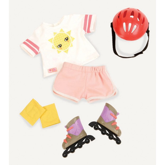(BD30242Z) Our Generation, Rollerblades & Outfit