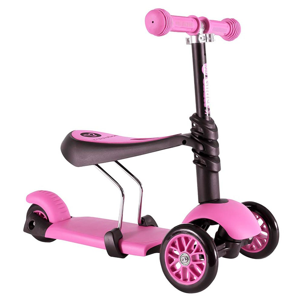 (YV100073) Yvolution, YGlider 3In1 Black/Pink