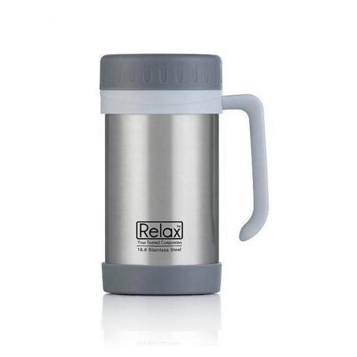 (D1144-07) Relax, 18.8 Stainless Steel Thermal Mug 0.5L - Grey