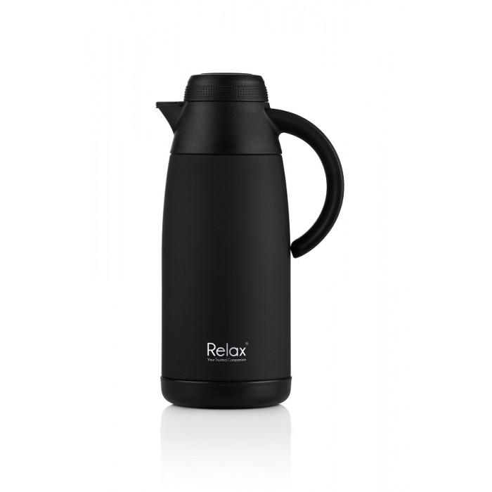 (D3111-08) Relax, Stainless Steel Thermal Carafe 1.1L - Black