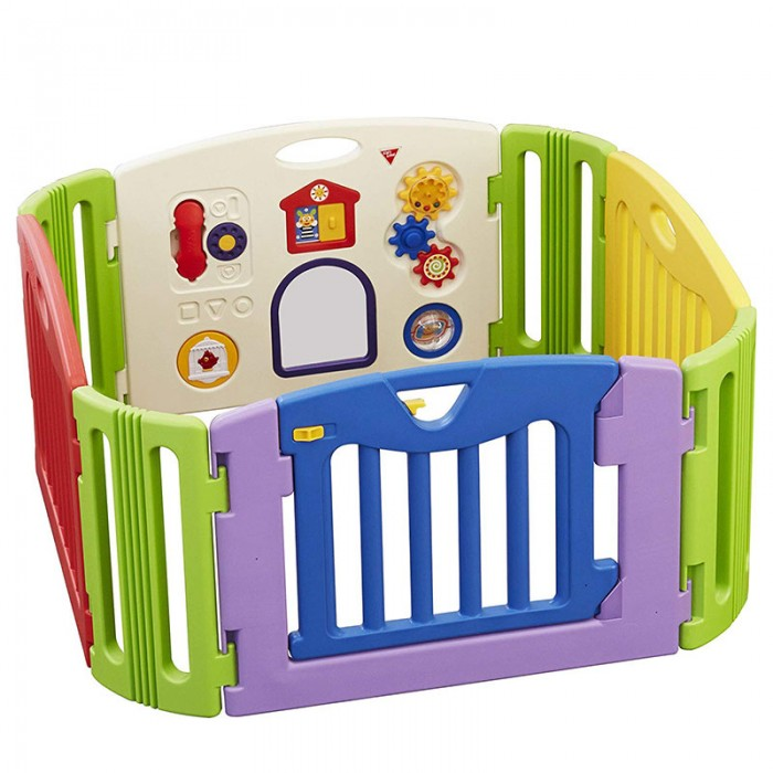 Nihon Ikuji, Premium Musical Play Yard - Colourful (4 Panel)