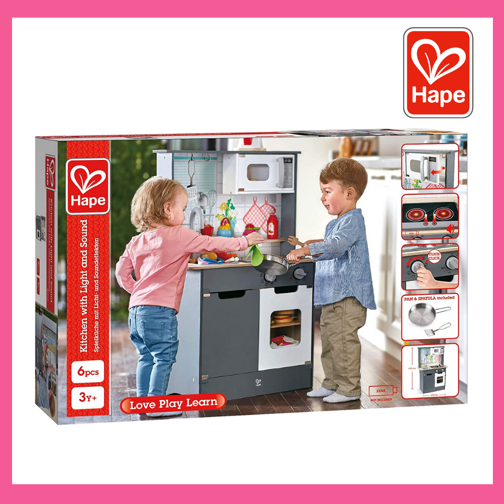 (HP3166) Hape, Kitchen With Lights & Sounds END OF SEPT DELIVERY