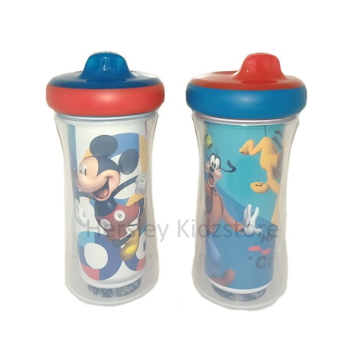 (Y11309-10978) The First Years, Mickey 9oz insulated Sippy Cup 2pk with AR