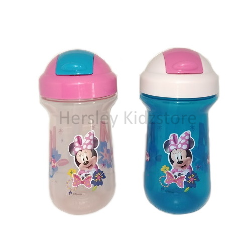 (Y10656) The First Years, Minnie Mouse 10oz Flip Top Straw Cup 2pk - Pink