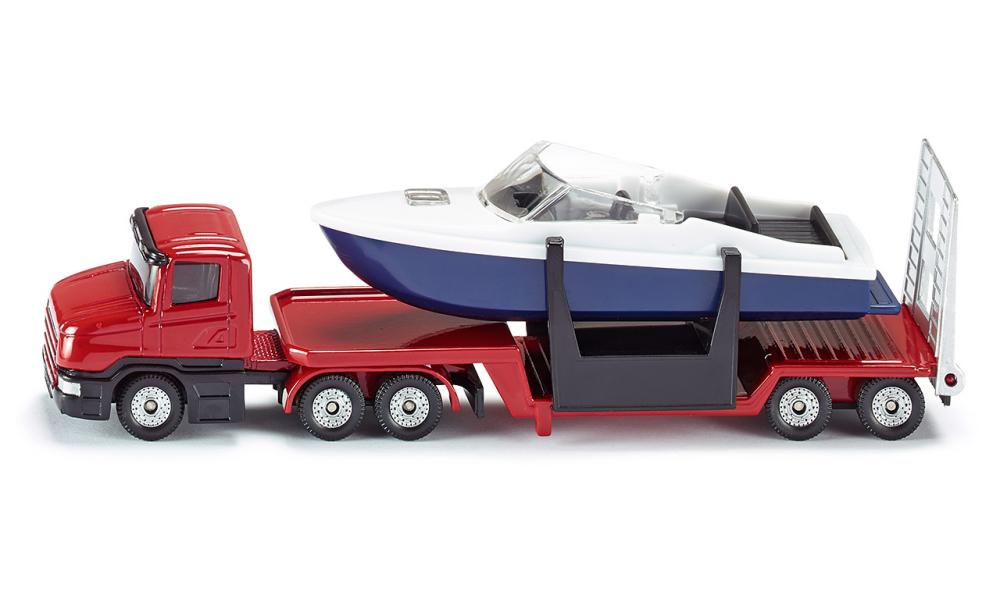 (S1613) Siku, Low Loader With Boat